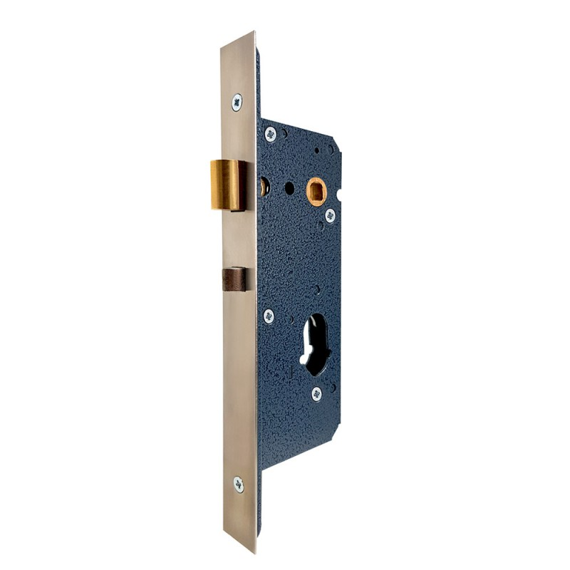 Dual-Profile Cylinder Mortice Night Latch <br>c/w Anti-thrust Bolt
