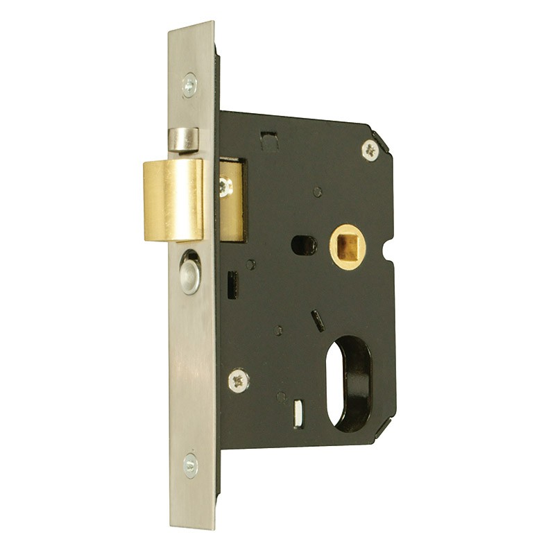 Oval-Profile Cylinder Anti-Thrust Night Latch